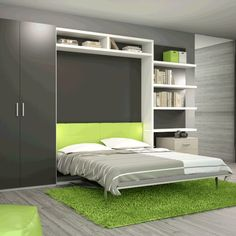 Latest Modular Bed Furniture and Double Bed Designs for your Bedroom Space Saving Beds, Space Saving Furniture, Hidden Wall Bed, Ceiling Bed, Bed Shelves, Murphy Bed Ikea, Appartement Design, Bed Wall, Outdoor Kitchen Design