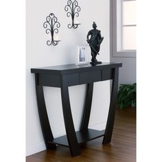Modern Treasure Black Finish Console-Sofa Table   Overstock.com Shopping - The Best Deals on Coffee, Sofa & End Tables