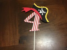 Pirate Cake Topper Pirate Birthday Party Pirate door JVcreationshop