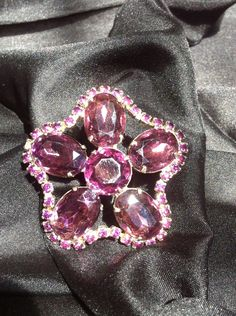 Vintage Gorgeous Purple Glass Brooch / Pin by MamaMaesMarket, $35.00