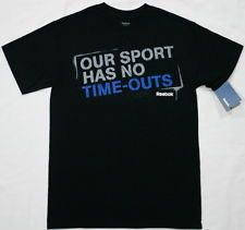 Reebok OUR SPORT HAS NO TIME-OUTS Men's Medium T-Shirt 2012 Crossfit Black NEW