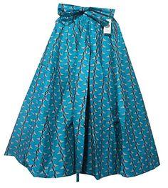 Decoraapparel African Clothing Women Girl Wax Print Long Wide Flared Ankara Elastic Waist Maxi Skirt Plus Size Belt Pocket (Red One Size) African Skirt, Amazon, Skirts, Fashion, Moda, Amazons, Riding Habit, Fashion Styles, Skirt