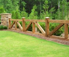 120 reference of fence Horizontal ranch style – Zaun Fence Landscaping, Backyard Fences, Garden Fencing, Fenced In Yard, House Fence Design, Wood Fence Design, Garden Design, Landscape Design, Horse Fencing