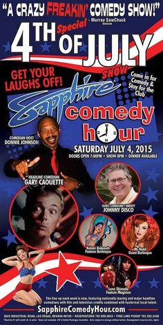 Comedian Gary Caouette to Headline Sapphire Comedy Hour, Saturday July 4 with Johnny Disco, Donnie Johnson, Luna Shimada, Ms Redd and Kalani Kokonuts!