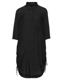 NÖR Longline tie detail shirt  in Black