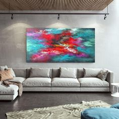 Abstract Acrylic Painting Modern Art Large Wall Decor image 9 Large Abstract Wall Art, Large Artwork, Extra Large Wall Art, Canvas Painting Landscape, Large Painting, Oversized Wall Art, Modern Wall Art, Contemporary Art, Texture Art