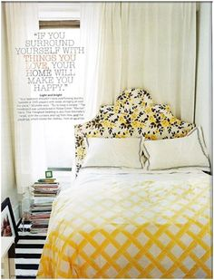 Yellow and Black bedroom