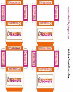 Mini Printable Dunkin Donuts Elf Sized Donut Box