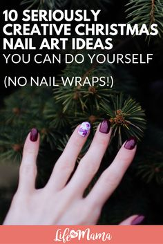 9 festive fall nail designs makeup and organic makeup easy christmas nail art no wraps and no stencils simple christmas manicures anyone can solutioingenieria Choice Image