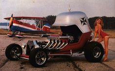 One of the coolest hot rods ever -- The Red Baron, built by Chuck Miller.  Totally had the Hot Wheels version of this as a kid.
