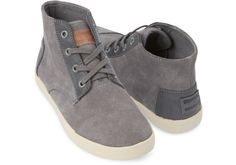 TOMS grey suede women's Paseo-Highs