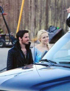 Georgina and Colin - 16 july 2014 at ONCE set season 4 OMG!!! IM LITERALLY FANGIRLING SO HARD RIGHT NOW