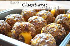 Bacon Cheeseburger Meatballs recipe.