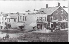 Pittsfield North & Depot St, 1865.