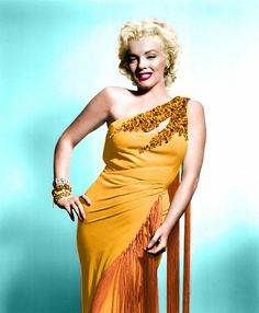 Marilyn Monroe In A Colorized Photo.