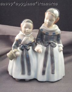 Lovely Royal Copenhagen Denmark Armager Girls Shopping Figurine #1316