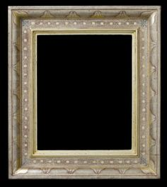 American domed casetta style frame. Incised, punched, burnished, and hand colored after Charles Prendergast.