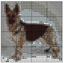German Shepherd at Sunset Cross Stitch Pattern | eBay