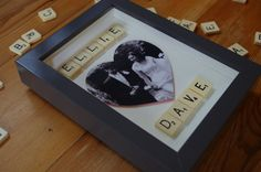 Medium Personalised scrabble art frame 16x21cm by SpaHillCrafts, £16.00