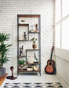 Helena Bookcase by Four Hands | Furnitureland South | The World's Largest Furniture Store Four Hands Furniture, Large Furniture, Furniture Design, Pipe Furniture, Industrial Home Design, Industrial Metal, Industrial Furniture, Diy Industrial Bookshelf, Unique Bookshelves