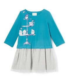 Blue & Gray Robin Dress - Infant, Toddler & Girls | zulily