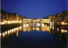 Florence, Italy! Our hotel was just down from the Ponte Vecchio - beautiful at night