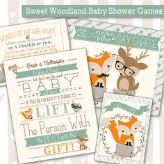 Sweet Woodland Baby Shower Tags | Decorative Woodland Animals Tags | Forest Friends Gift Labels