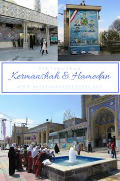 Iran - My experiences visiting Kermanshah and Hamedan in central Iran. Including a visit to bazaars, mosques, shrines and the carvings of Taqt-e Bostan
