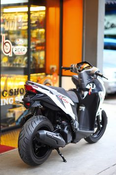 Discover recipes, home ideas, style inspiration and other ideas to try. Yamaha Nmax, Yamaha Scooter, Scooter Motorcycle, Moto Bike, Motorcycle Garage, Scooter Custom, Custom Bikes, Motor Scooters, Motor Car