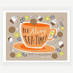 Tea-Time Alice Print 8.5x11, $22, now featured on Fab.