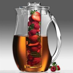 Fruit Infusion Pitcher - fill up the pitcher with water, pack the center tube with yummies of your choice and drink to your little hearts content!