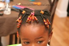 Ponytails with Creative Beaded Braids   Chocolate Hair / Vanilla Care: Style Gallery