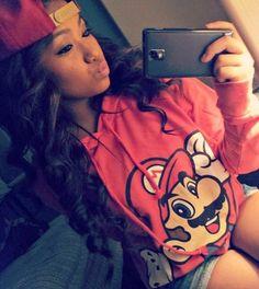 cute hoodie, curly hair.