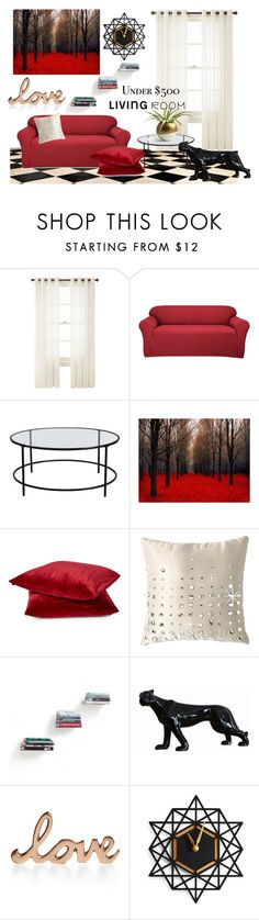 """""""Untitled #503"""" by anna-maria-vi ❤ liked on Polyvore featuring interior, interiors, interior design, home, home decor, interior decorating, Royal Velvet, Sure Fit, Sauder and By Caprice"""