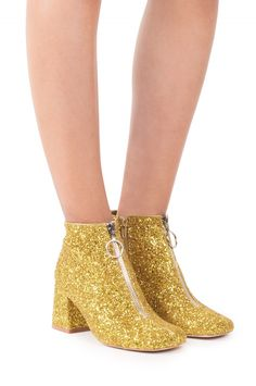 Jeffrey Campbell Shoes BOSSANOVA Booties in Gold