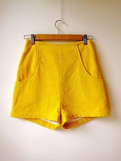 Edie high-waist shorts. customary clothing, portland.