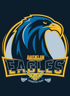 Hogwarts Quidditch Team Badges: Ravenclar Eagles - by Mitch Ludwig