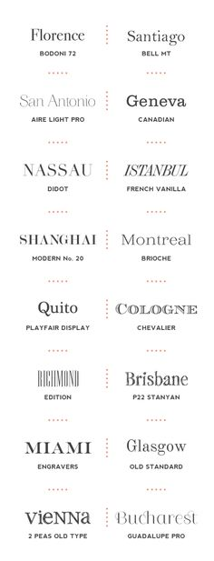 Good Serif fonts to use, some of them are a little over the top but most are…