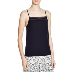 French Connection Womens Chiffon Contrast Trim Tank Top