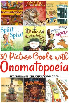 This collection of picture books with onomatopoeia are perfect for your upcoming lessons. Students will see and hear onomatopoeia in action! Library Lessons, Library Books, Reading Lessons, Art Lessons, 3rd Grade Reading, Guided Reading, Reading Lists, Second Grade, Reading Tutoring