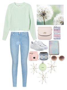 """""""Untitled #169"""" by darkestangel13 ❤ liked on Polyvore featuring Monki, 7 For All Mankind, Kate Spade, adidas Originals, Casetify, Linda Farrow, Chanel and Chico's"""