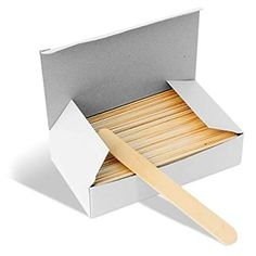 Mylee Disposable Waxing Wooden Spatulas - Pack of 100 At Home Waxing, Waxing Kit, Wooden Spatula, Small Tins, Wood Sticks, Wax Warmer, Make It Simple, Magazine Rack, Packing