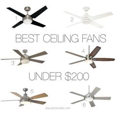 Stacy + Charlie: best ceiling fans under $200