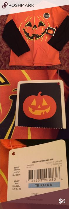 Boy's Halloween Pumpkin 3T Long Sleeve Glow Shirt Boy's Halloween Pumpkin Halloween Glow Long Sleeve Shirt...brand new with tag.......size 3T....bought at Walmart. ITB Halloween Shirts & Tops Tees - Long Sleeve