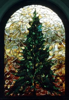 This window was created for the art room of a private school, grades 5 thorugh With the tree as their symbol, we wanted the window to express the energy, creativity, and spontaneity of the stud… Stained Glass Repair, Stained Glass Church, Stained Glass Art, Stained Glass Windows, Leaded Glass, Beveled Glass, Mosaic Glass, Mosaic Art, Tiffany Glass