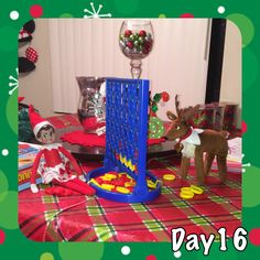Elf on the Shelf Connect 4 with Elf Pet