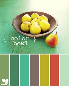 Pear these colors together and stick them in a bowl! That's what I'm talking about...