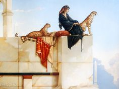 Michael Parkes' pain    I love the way he paints like a old master.
