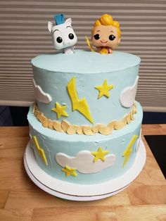 Baby Shower Cakes, Baby Boy Shower, One Year Birthday Cake, Pastel, Pegasus, Balloons, Desserts, Ideas, First Year