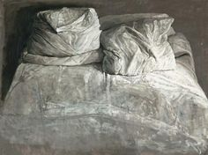 """Safet Zec, (Bosnian artist, title unknown [unkempt bed], medium possibly graphite or charcoal. """"Study in value, amazingly rendered! Drapery Drawing, Still Life Drawing, Hyperrealism, Art Plastique, Painting & Drawing, Art Drawings, Contemporary Art, Art Gallery, Illustration Art"""